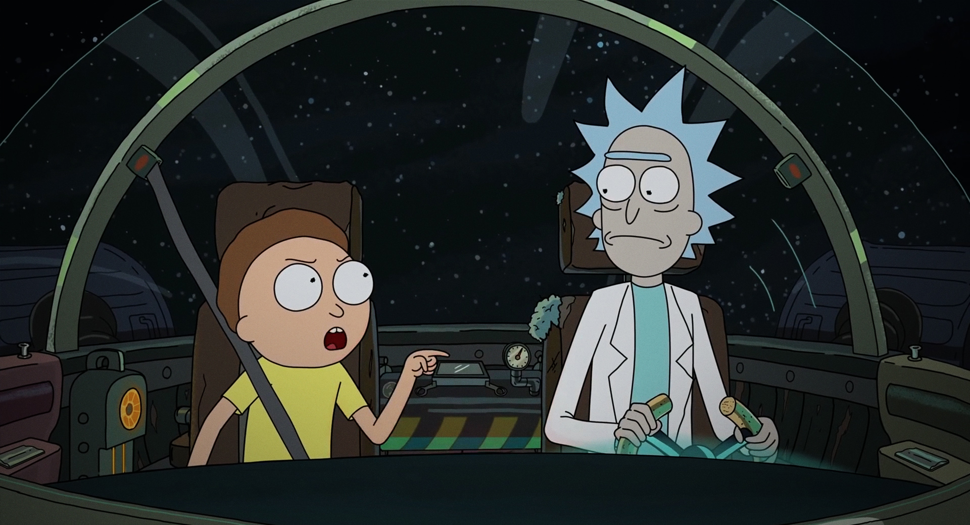 Alien x Rick and Morty